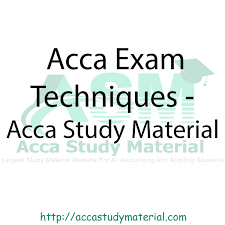 acca exam techniques acca study material