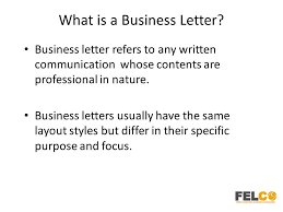 the purpose of a business letter the letter sample