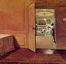 interior vestibule by lamplight 1904 felix vallotton wikiart org