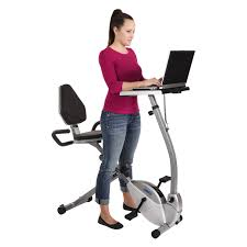 Walking Laptop Desk by Stamina 2 In 1 Recumbent Exercise Bike Workstation And Standing