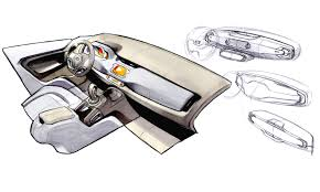Interior Design Sketches by Interior Automotive Sketch With Details Google Search Auto