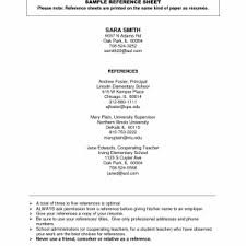 resume reference list sample high references resume