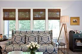 Basement Window Blinds - blinds for basement windows living room eclectic with blue dark
