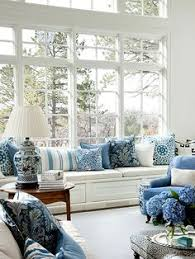 Blue And White Living Room Decorating Ideas White And Blue Coastal Living Room Design Decor Photos