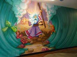children s room mural ideas custom hand painted wall mural for wall murals bible stories google search