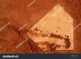 baseball home plate red clay stock photo 1288067 shutterstock