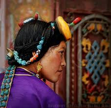 tibetan with turquoise hair ornaments travel photographs