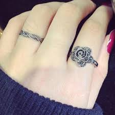flower tattoo ring rings tagged flower woogoing