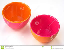 bowls of opposite colors stock photos image 21366243