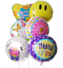 mylar balloon bouquet thinking of you balloon bouquet 6 mylar balloons let them
