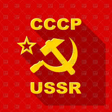 Sickle Russian Flag Sickle And Hammer Emblem Ussr Flag Royalty Free Vector Clip Art