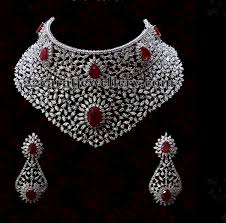 heavy diamond earrings heavy diamond set by diyaash diamond and indian jewelry