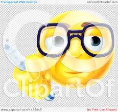 happy thanksgiving smiley face clipart of a yellow smiley face emoji emoticon scientist holding a