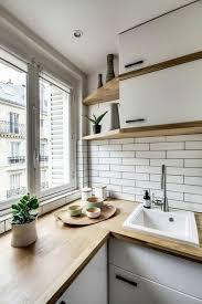 cuisine avec carrelage metro le carrelage métro blanc fait fureur dans la cuisine archzine fr