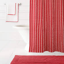 Shower Curtains With Red Parker Red Shower Curtain The Outlet