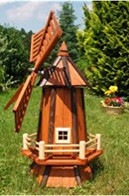 decorative garden windmill ornament 1 metre high with wooden