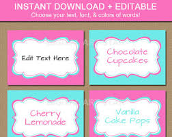 Candy Labels For Candy Buffet by Pink Elephant Candy Buffet Labels Pink Elephant Baby Shower