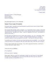 Format Of Complaint Letter by Airline Template Complaint Letter