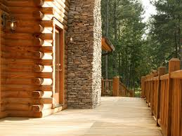 decorating inspiring deck of southland log homes with glass door
