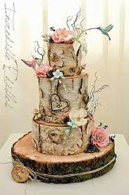 theme wedding cake rustic wedding cakes custom birch inspired wedding cake with bird