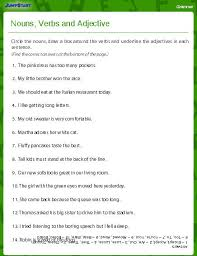 education world nouns verbs and adjectives worksheet download