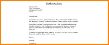 basic cover letter easy cover letter easy cover letter easy