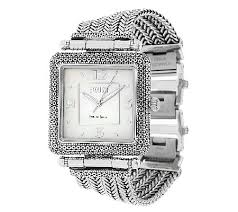 sterling silver bracelet watches images Ecclissi sterling square case multi row bracelet watch page 1 001