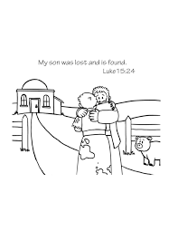 free bible coloring page the lost son