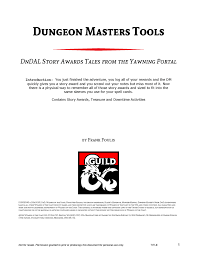 the redemption manual dungeon master tools dndal tales from the yawning portal