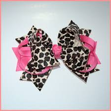 boutique hair bows this boutique big pink and cheetah printed hair bow will be