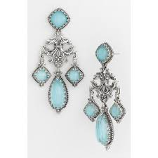 Turquoise Chandelier Earrings Polyvore Blue Chandelier Earrings Polyvore