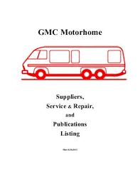 gmc motorhome wiring diagram wiring diagrams