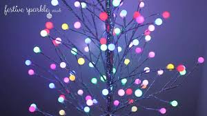 Christmas Light Balls For Trees by 5ft Twig Tree With Frosted Led Balls Youtube