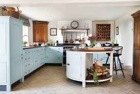 Ideas For Country Style Kitchen Cabinets Design 27 Blue Kitchen Ideas Pictures Of Decor Paint Cabinet Designs