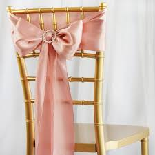 chair sash ties 5pcs mauve satin chair sashes tie bows catering wedding party