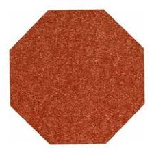 Rust Area Rug American Bright Solid Color Rust 8 Octagon Area Rug By American