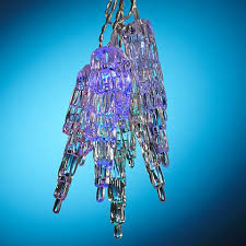 solar powered 10 light clear icicle led string lights y7365