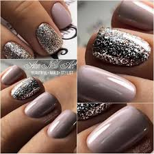 easy nail art glitter beautiful combo of colors nails pinterest lilac nails