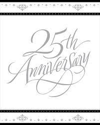 free 25th wedding anniversary invitation