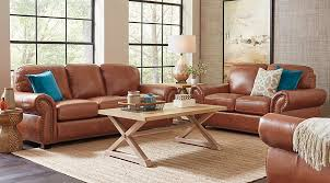 light brown leather sofa balencia light brown leather 5 pc living room leather living