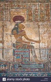 ancient egyptian paintings on stone stock photos ancient hieroglypic colourful carving paintings on wall at the ancient egyptian temple of khnum in esna with