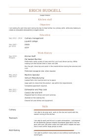 Kitchen Staff Resume Sample by Sample Resume For Kitchen Staff