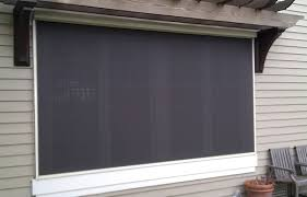 Exterior Window Blinds Shades Motorized And Manual Exterior Sunscreens Or Sunshades