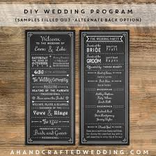 Printable Wedding Programs Free Best 25 Printable Wedding Programs Ideas On Pinterest Wedding