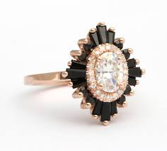 onyx engagement rings the oval gatsby heidi gibson