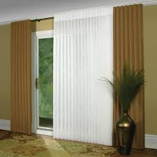 interior sliding glass door with brown ripple fold pleated