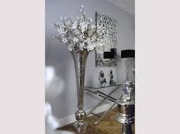 Large Metal Vase Tall Fluted Metal Vase Large Silver Trumpet Vase Libra Romano