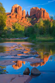 Cathedral Rock Reflections At Sunset Red Rock Crossing Red Rock State Park Sedona Arizona Went Here With 9 Of Our