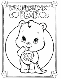 color bear menagerie free coloring pictures