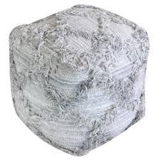 silver pouf ottoman wayfair